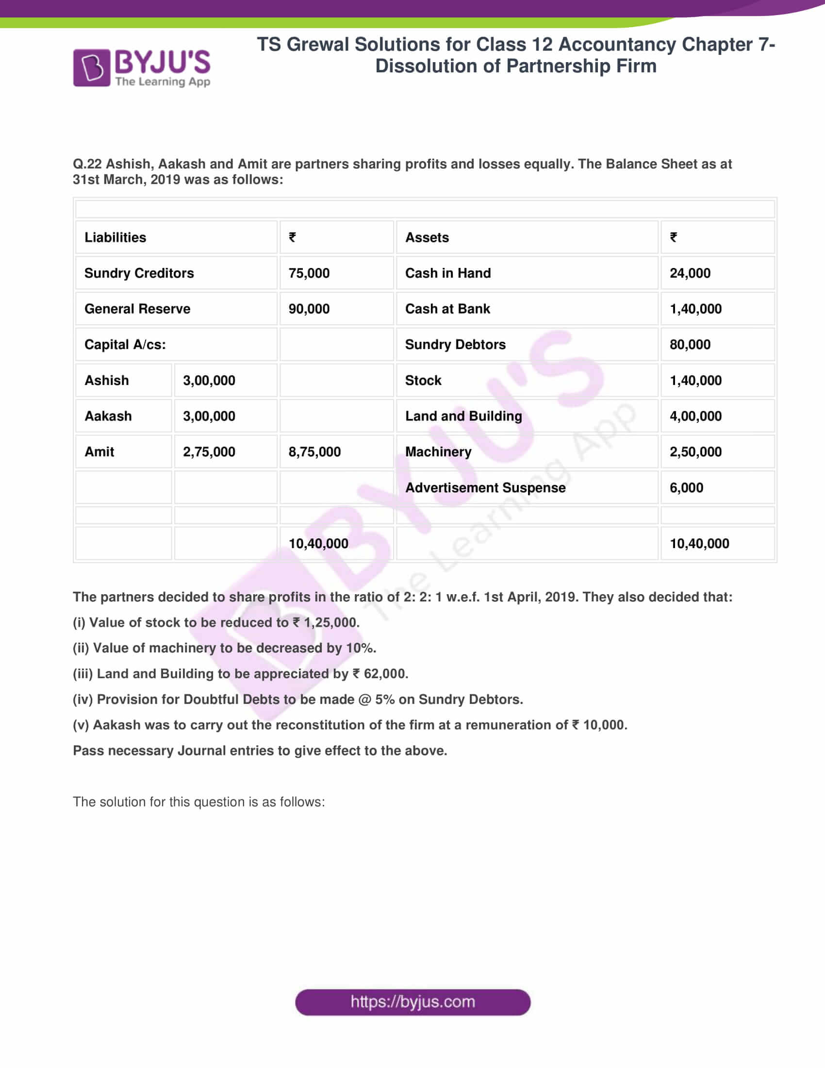 ts grewal solutions class 12 accountancy vol 1 chapter 4 change in profit 26