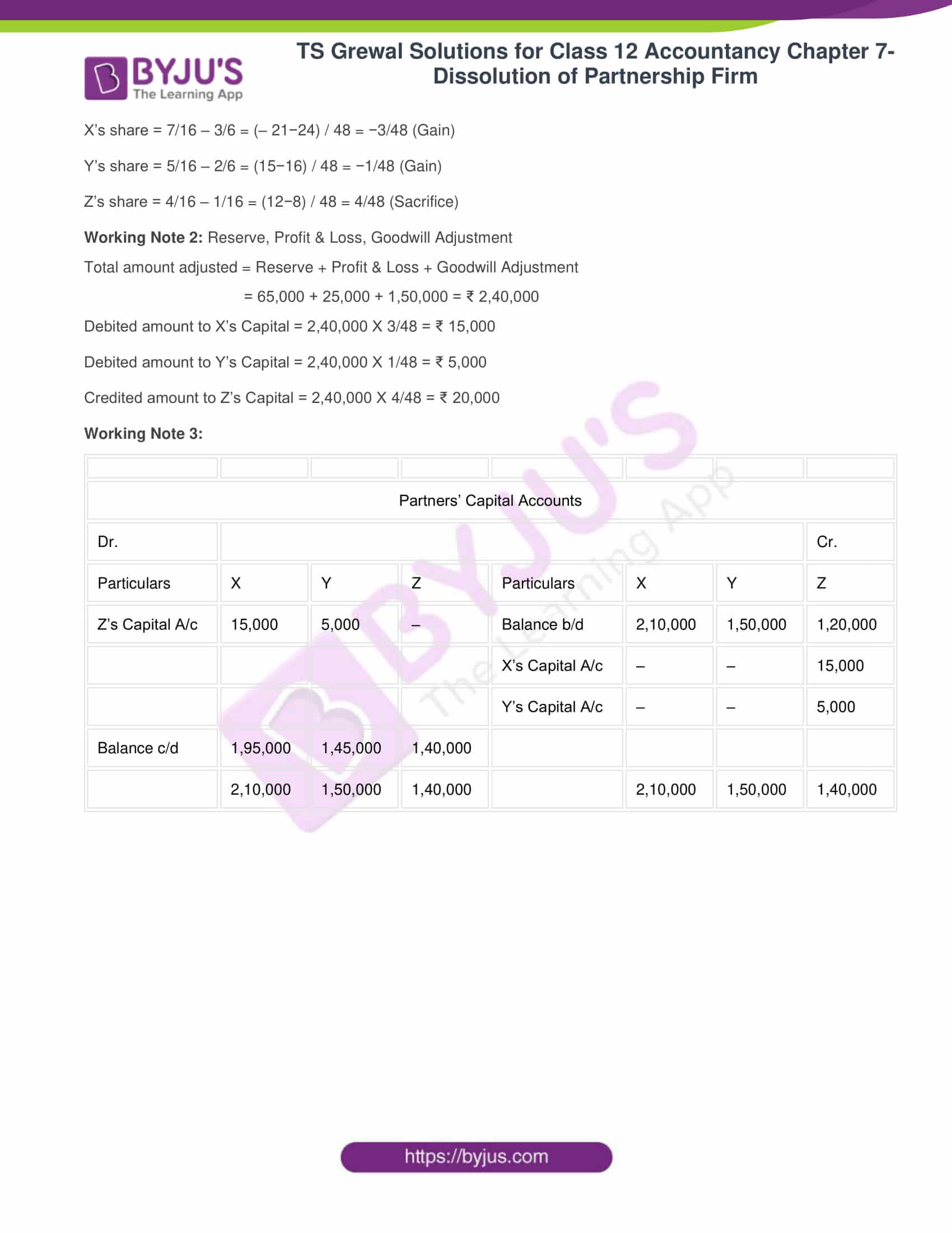 ts grewal solutions class 12 accountancy vol 1 chapter 4 change in profit 34