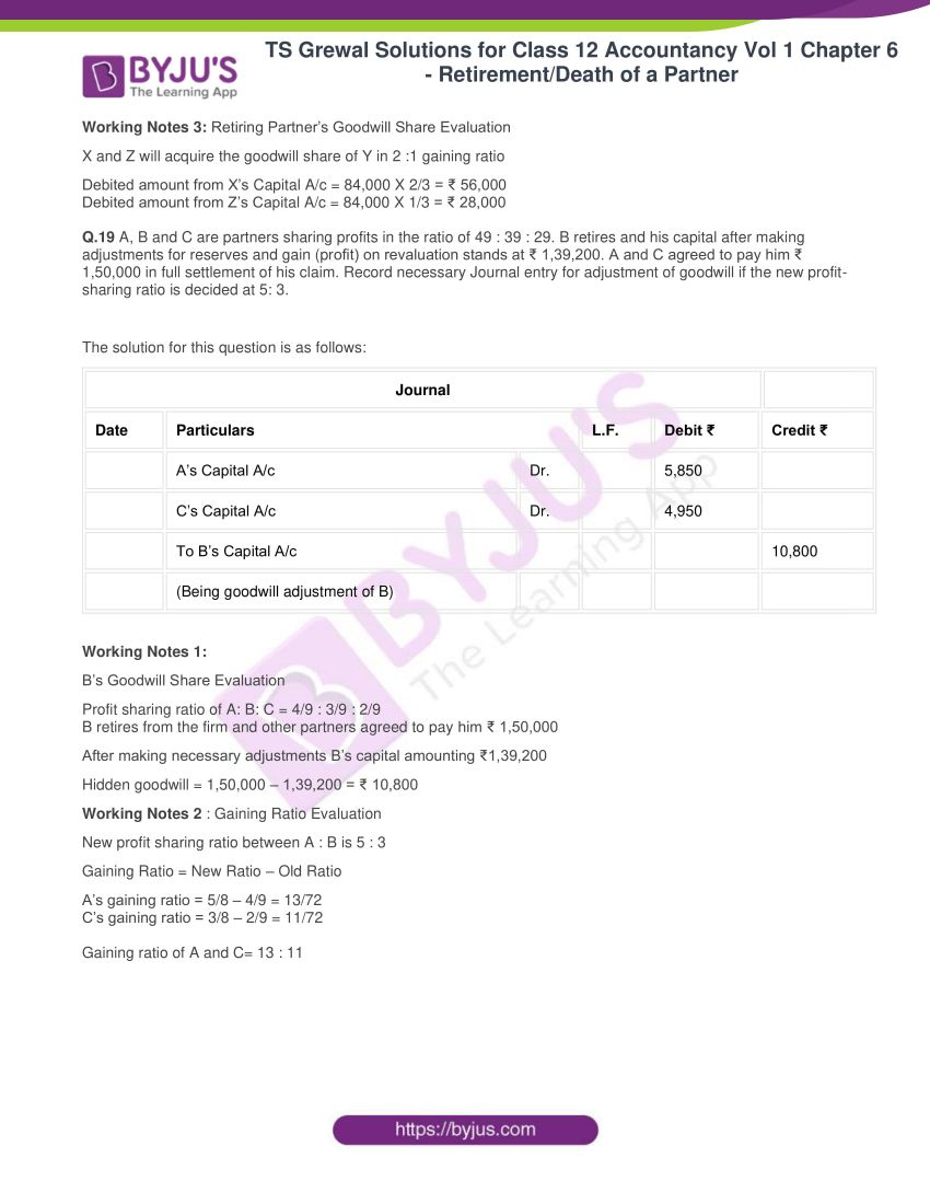 ts grewal solutions for class 12 accountancy vol 1 chapter 6 retirement 12