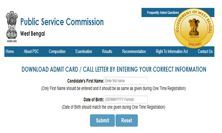 WBCS Admit Card - How to Download WBCS Admit Card (3)
