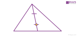 Steps to calculate centre of mass of triangle