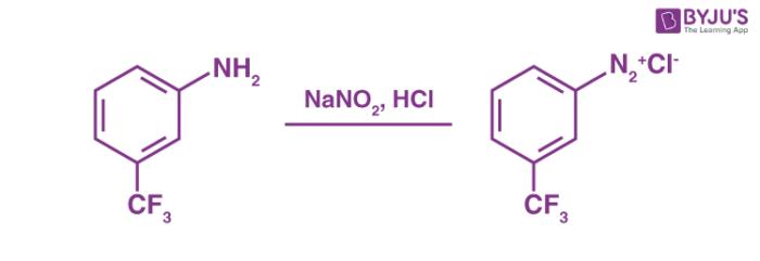 Diazotization Reaction Example