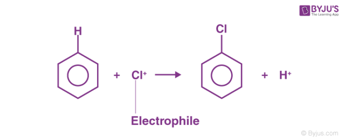 Electrophilic Substitution Reaction Example