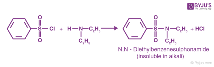 Hinsberg Reaction for Secondary Amines