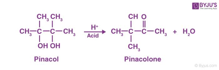 Pinacol Pinacolone Rearrangement Reaction
