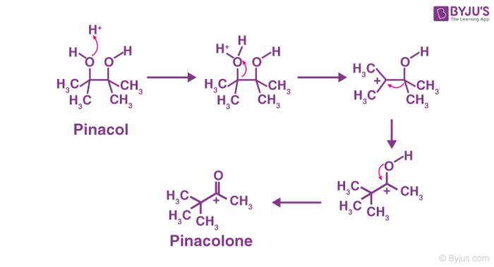 Pinacol Pinacolone Rearrangement Mechanism
