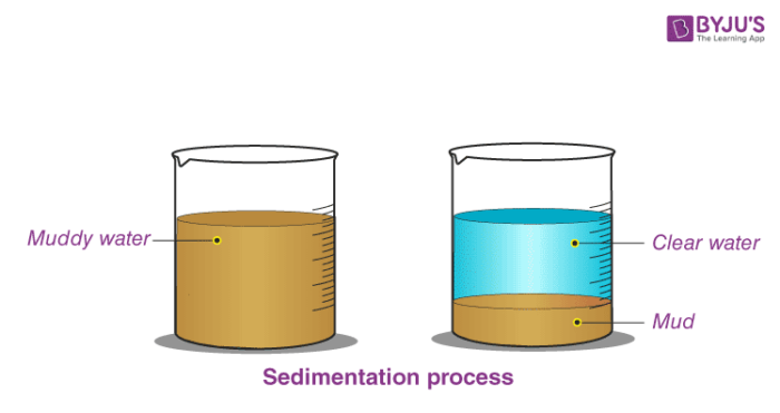 Sedimentation process