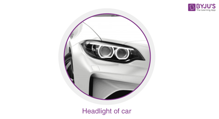 Headlights in a car