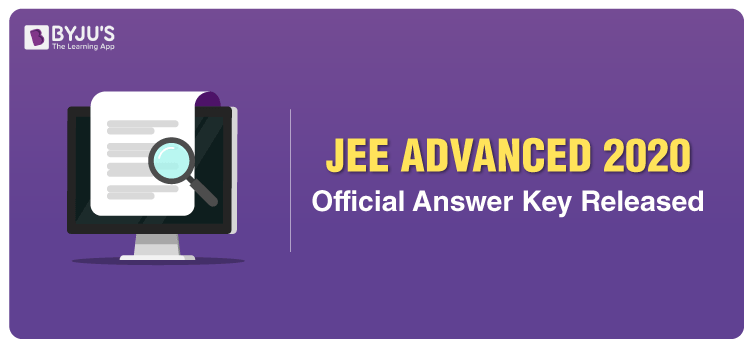 Web JEE Advanced 2020 Official Answer Key Release