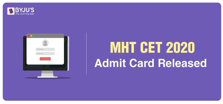 MHT CET Admit Card 2020