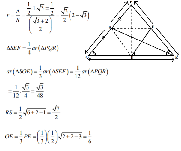 Answers for JEE Advanced Maths Question Paper 1
