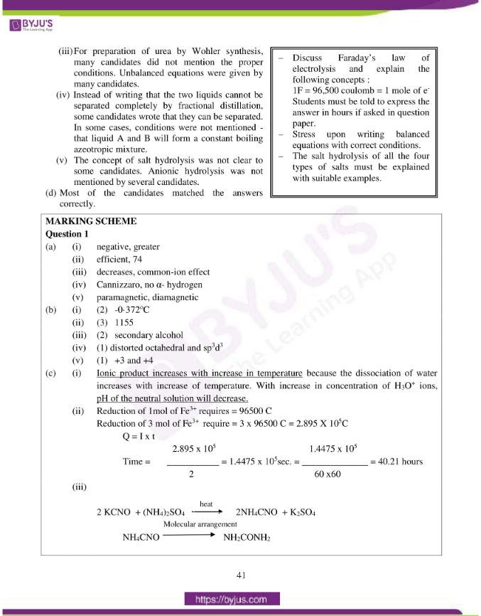 isc class 12 chemistry question paper solution 2015 04
