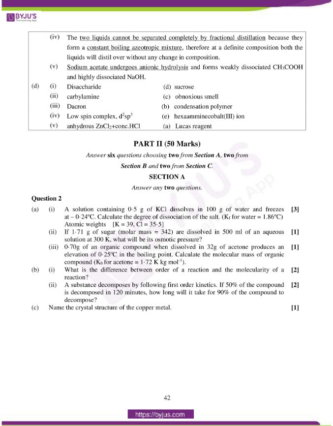 isc class 12 chemistry question paper solution 2015 05