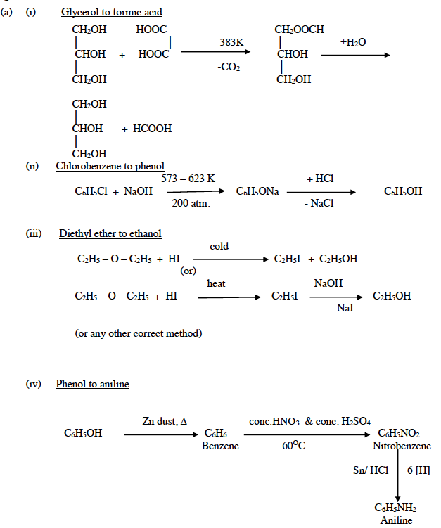 ISC Class 12 Chemistry Question Paper Solution 2015-13