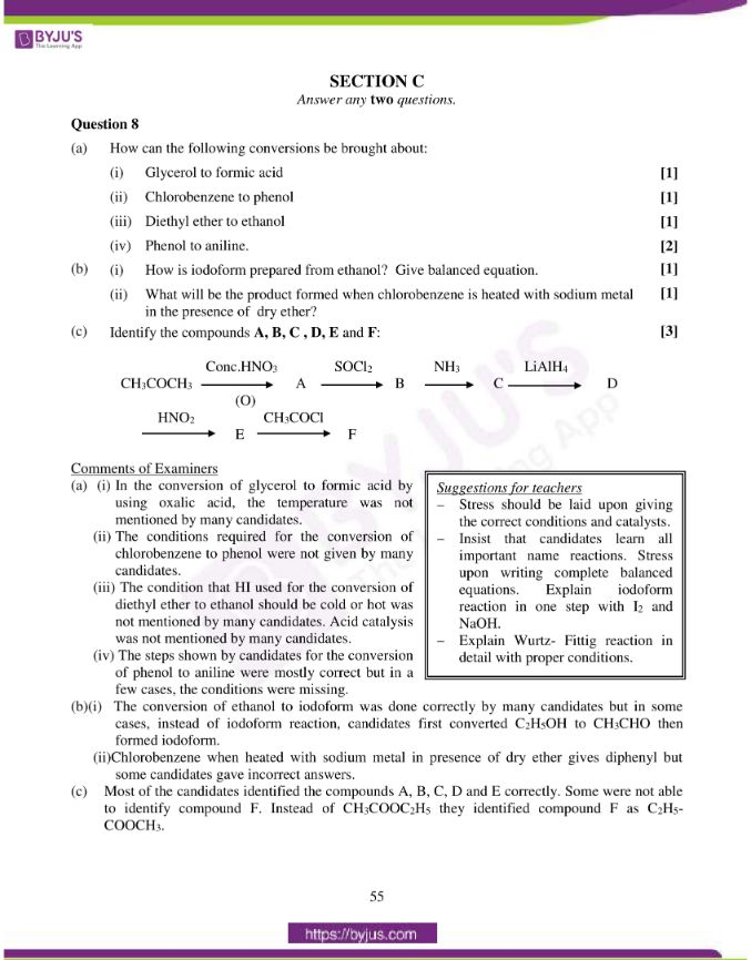 isc class 12 chemistry question paper solution 2015 18