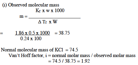ISC Class 12 Chemistry Question Paper Solution 2015-2