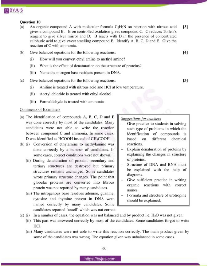 isc class 12 chemistry question paper solution 2015 23