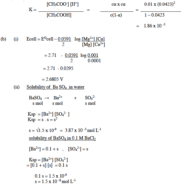 ISC Class 12 Chemistry Question Paper Solution 2015-8