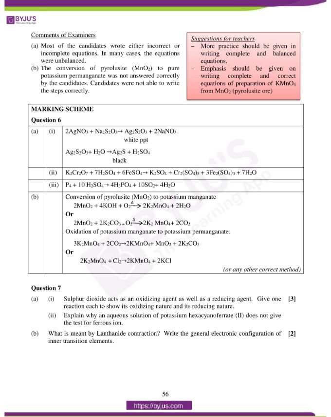 isc class 12 chemistry question paper solution 2016 13