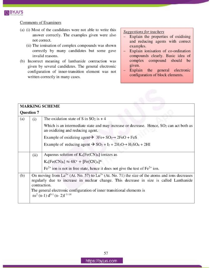 isc class 12 chemistry question paper solution 2016 14