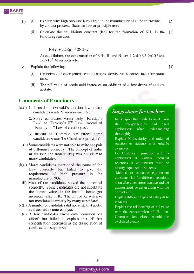isc class 12 chemistry question paper solution 2017 10