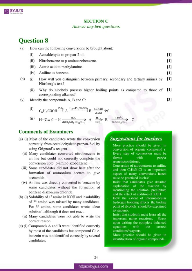 isc class 12 chemistry question paper solution 2017 15