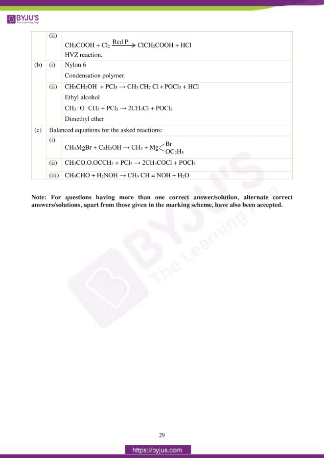 isc class 12 chemistry question paper solution 2017 20