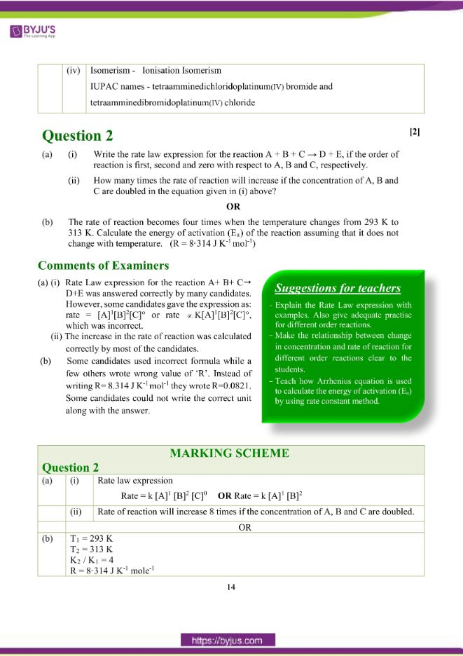 isc class 12 chemistry question paper solution 2018 05