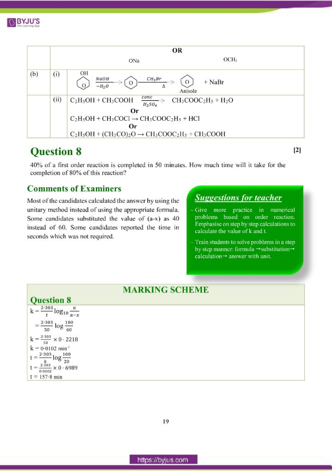 isc class 12 chemistry question paper solution 2018 10