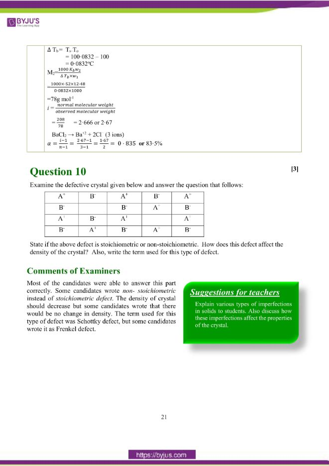 isc class 12 chemistry question paper solution 2018 12