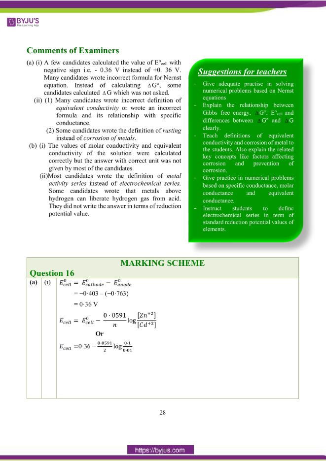 isc class 12 chemistry question paper solution 2018 19