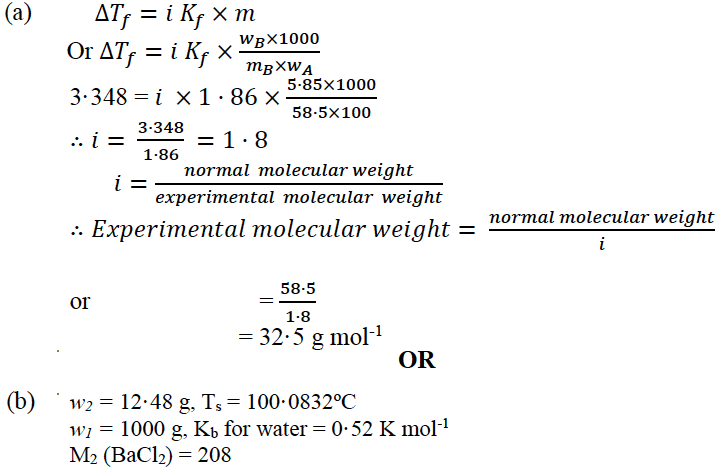 ISC Class 12 Chemistry Question Paper Solution 2018-8