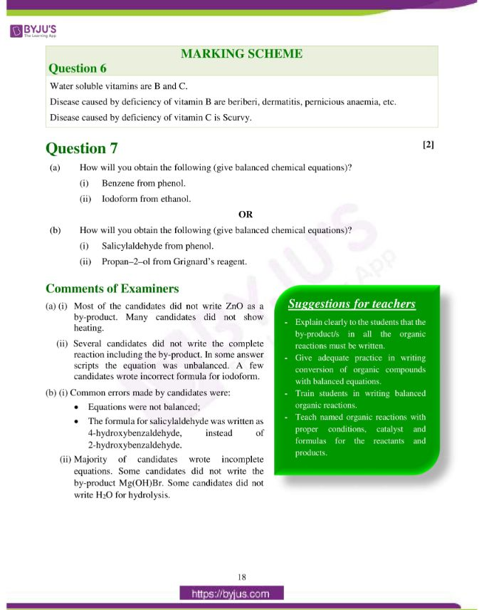 isc class 12 chemistry question paper solution 2019 09