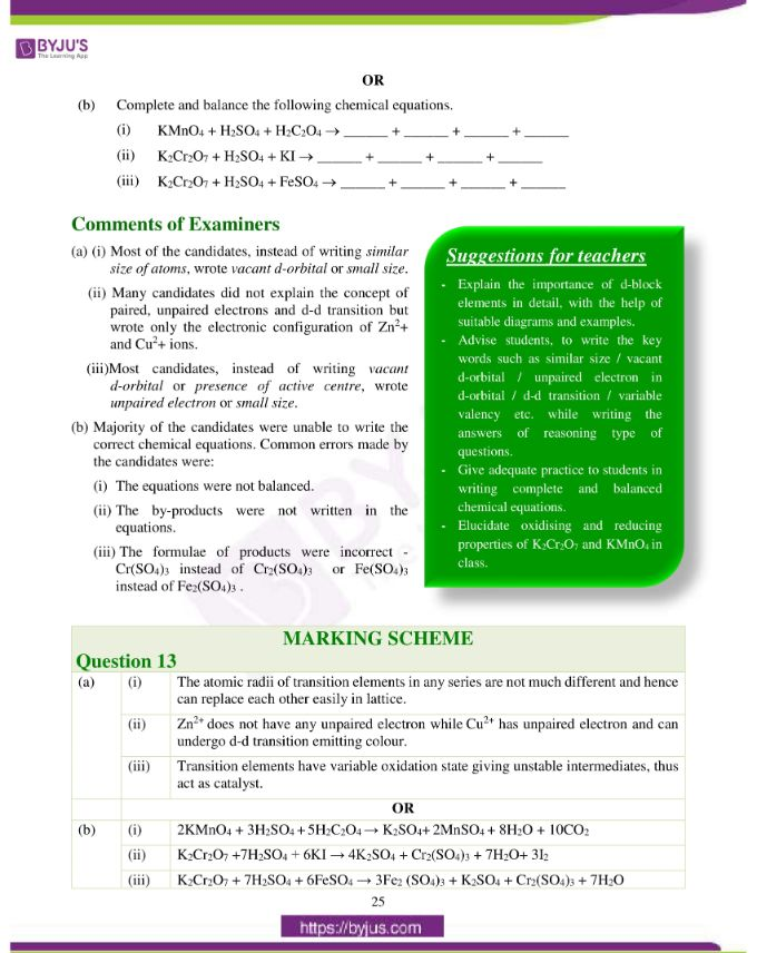 isc class 12 chemistry question paper solution 2019 16