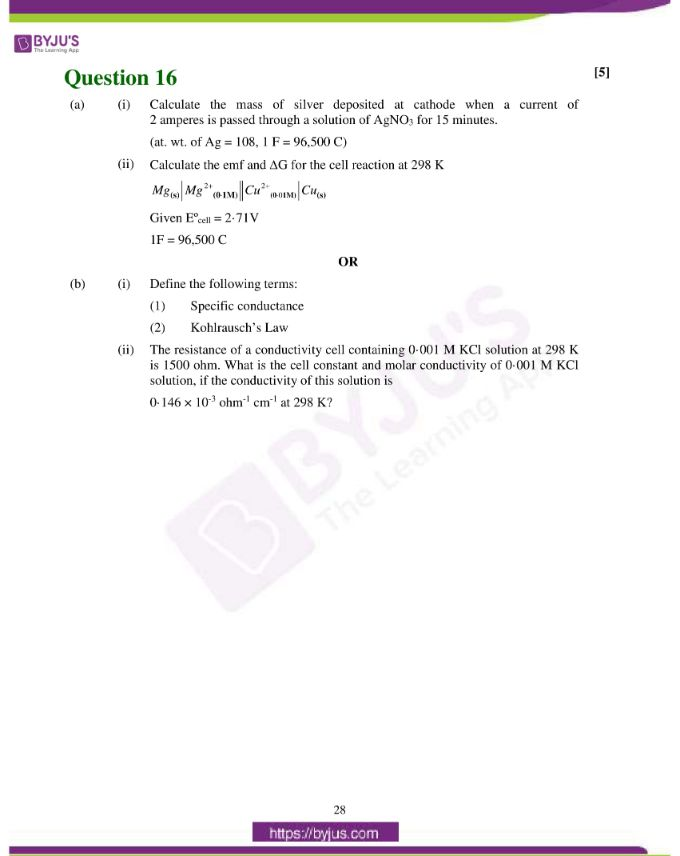 isc class 12 chemistry question paper solution 2019 19