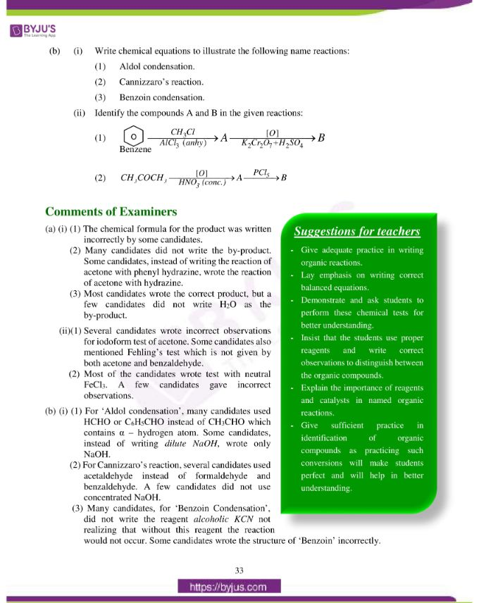 isc class 12 chemistry question paper solution 2019 24