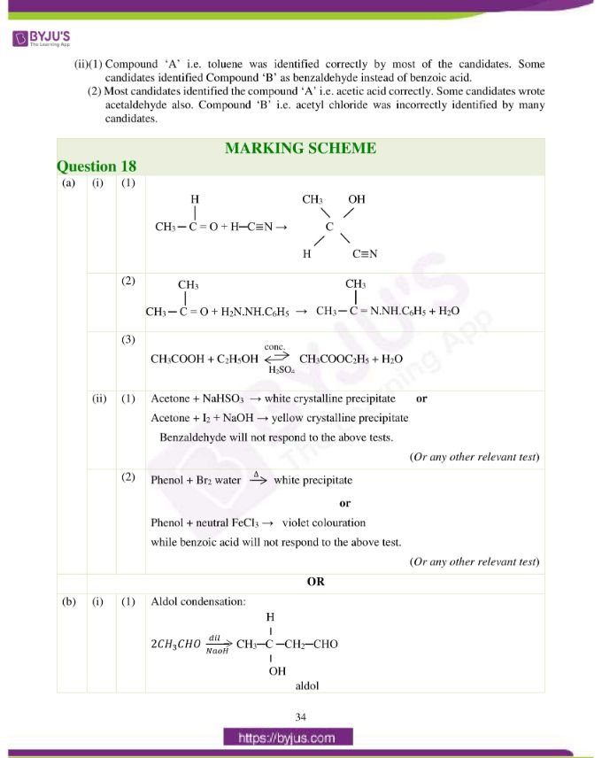 isc class 12 chemistry question paper solution 2019 25