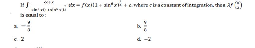 JEE Main Mathematics 2020 Shift 1 Jan 8 solved paper