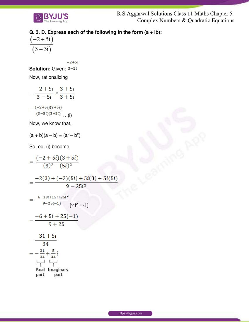 rs aggarwal class 11 maths solutions chapter 5 030