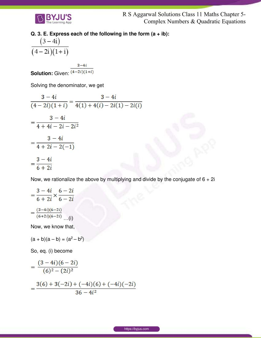 rs aggarwal class 11 maths solutions chapter 5 031