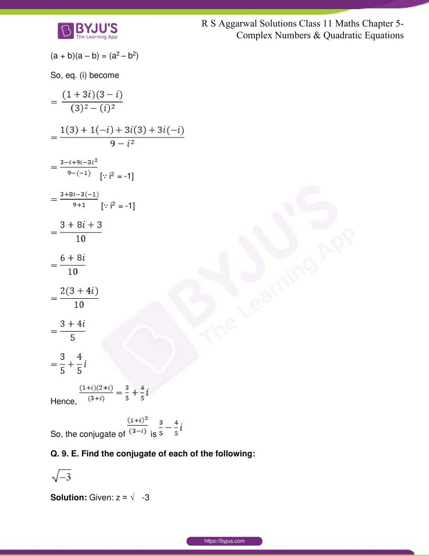 rs aggarwal class 11 maths solutions chapter 5 050