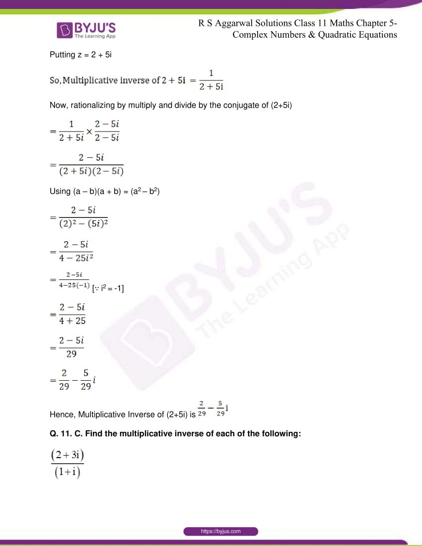 rs aggarwal class 11 maths solutions chapter 5 060