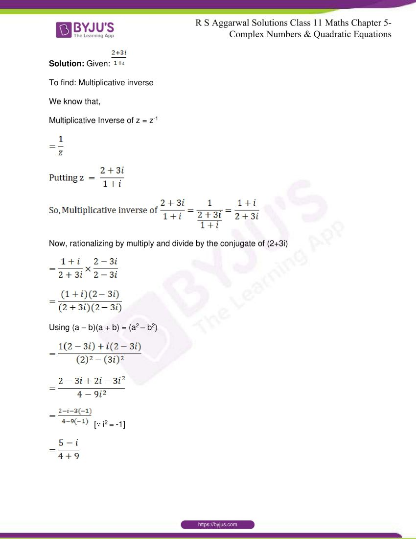 rs aggarwal class 11 maths solutions chapter 5 061