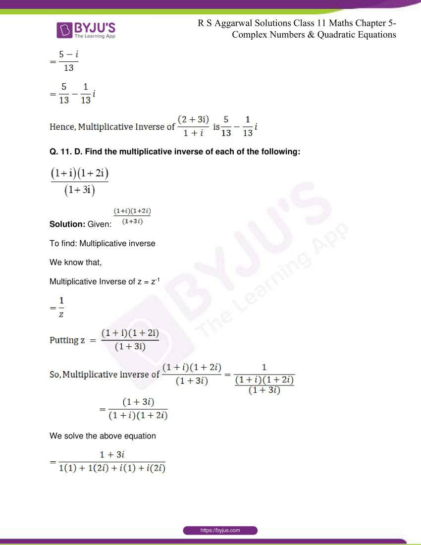 rs aggarwal class 11 maths solutions chapter 5 062