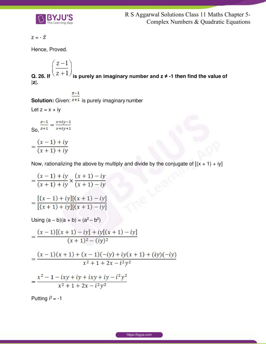 rs aggarwal class 11 maths solutions chapter 5 091