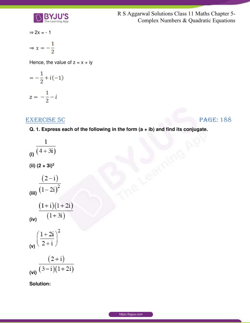 rs aggarwal class 11 maths solutions chapter 5 095
