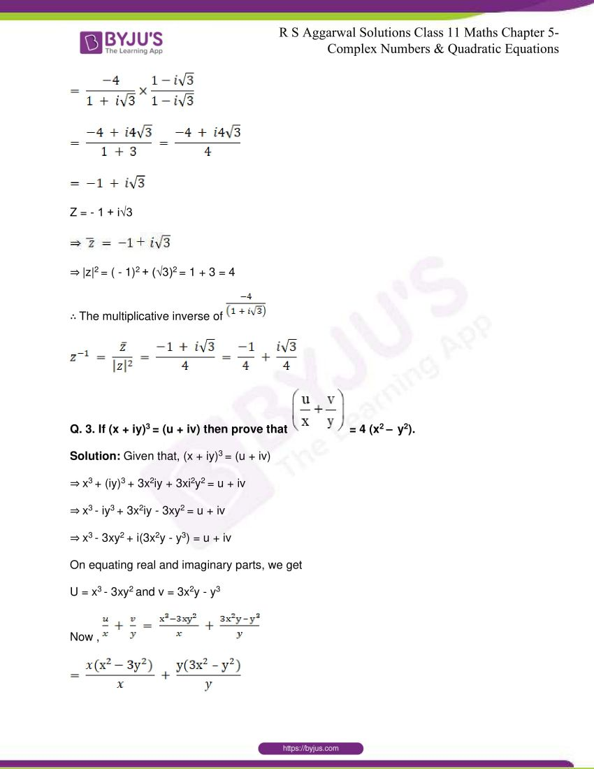 rs aggarwal class 11 maths solutions chapter 5 100