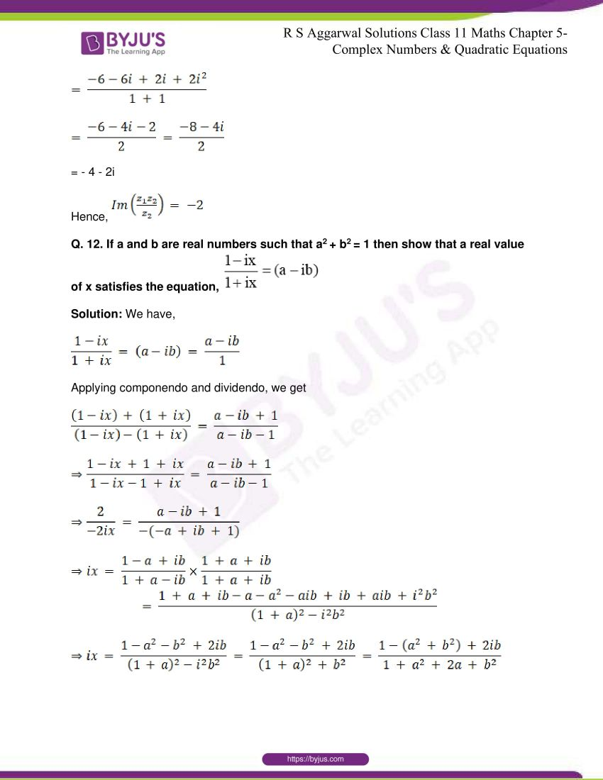 rs aggarwal class 11 maths solutions chapter 5 108