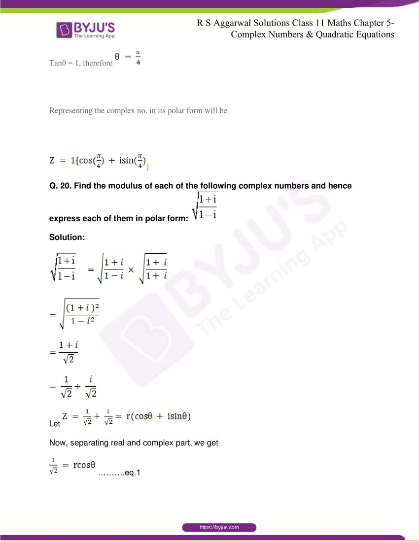 rs aggarwal class 11 maths solutions chapter 5 131