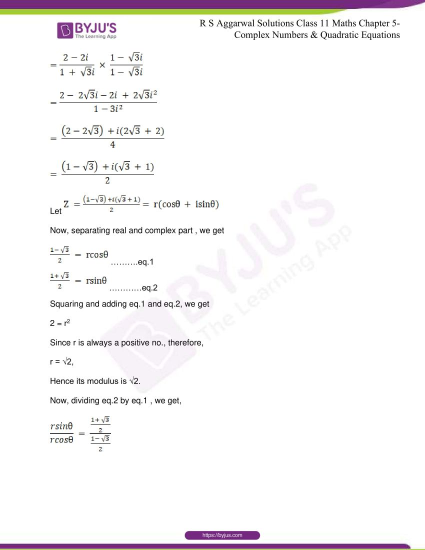 rs aggarwal class 11 maths solutions chapter 5 135